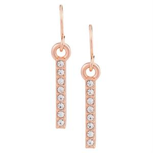 Picture of Crystal Linear Earrings Rose Gold